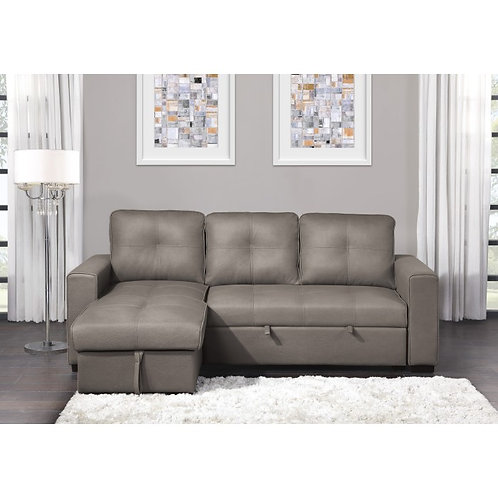 Magnus Henry 2-Piece Reversible Sectional with Pull-out Bed and Hidden Storage