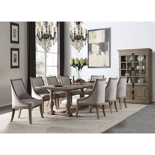 Eleonore All Weathered Oak Finish Dining Table