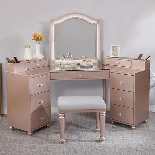 Tracie Imprad Light Pink / Metallic Vanity Set