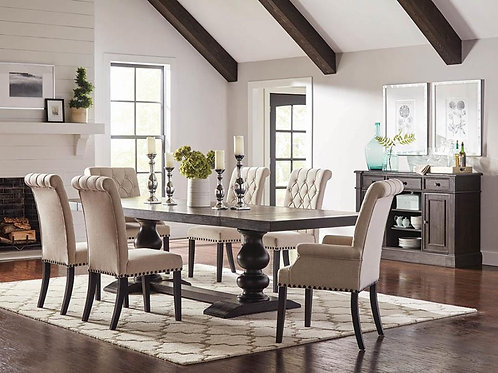 Phelps Cali Antique Noir Dining Table