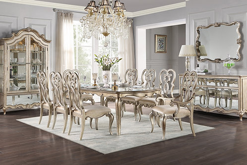 All ESTEBAN ANTIQUE CHAMPAGNE FINISH Dining Table