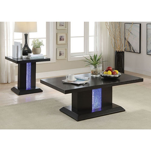 Bernice All Coffee Table Black & LED