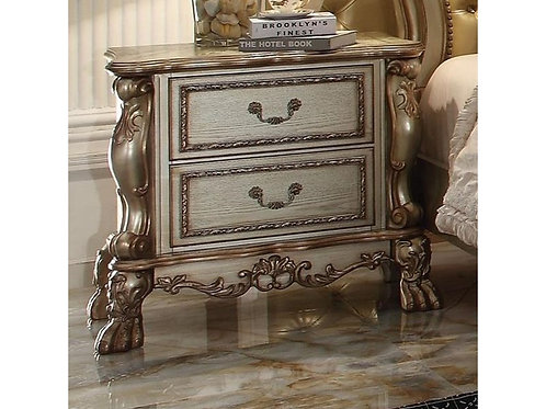 Dresden All Vintage Gold Finish Nightstand