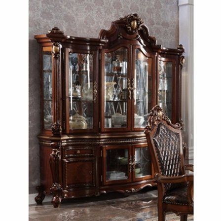 Picardy ALL Antique Cherry Oak Finish Hutch & Buffet