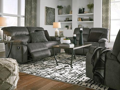 Bolzano Angel Gray 2 Seat Reclining Sofa