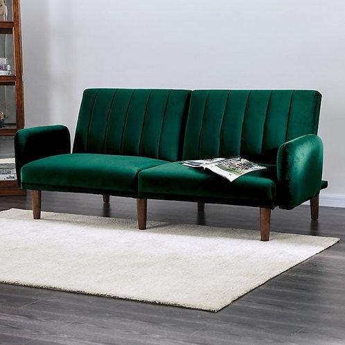 Imprad ADRIANNE Green Flannelette Futon