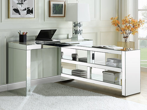 All Glam Mirrored Noralie 93110 USB Built in Writing Desk