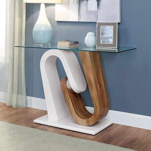 BATAM II Imprad Glass White/Natural Tone Sofa Table