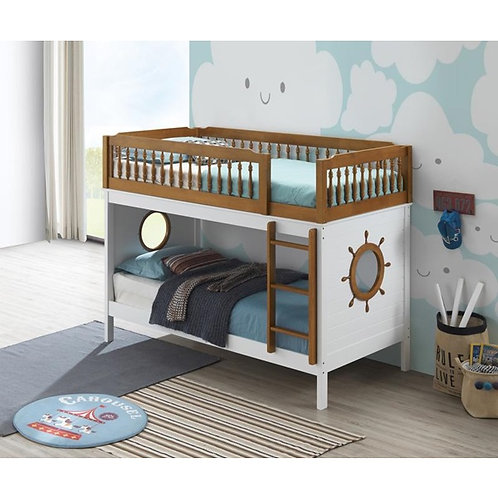 Fara All Twin Over Twin White Bunk Bed