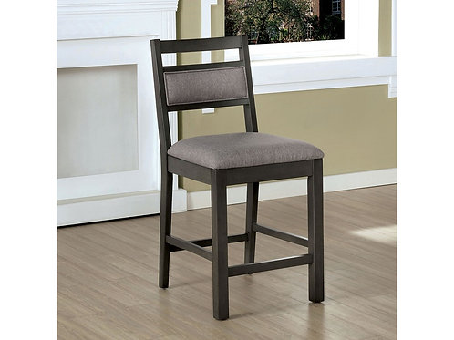 Vicky Imprad Transitional Gray Upholstery-Gray Finish Counter Ht. Dining Chair