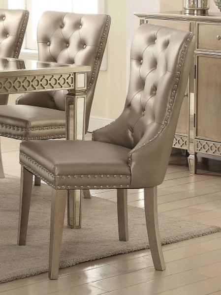 Kacela Champagne Finish Side Chair