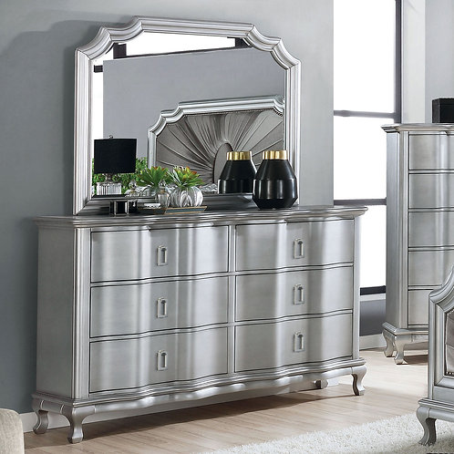 AALOK Imprad Transitional Silver/Gray Dresser