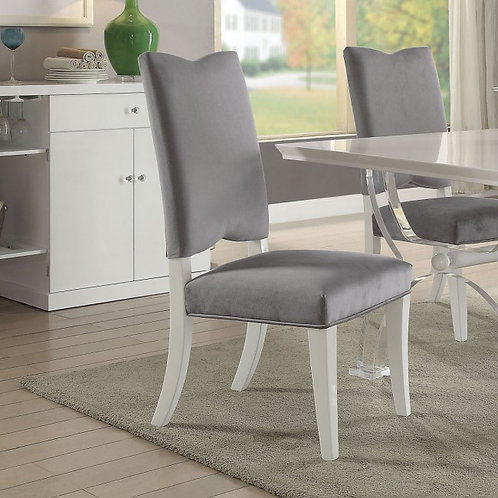 Martinus All Gray Fabric Side Chair