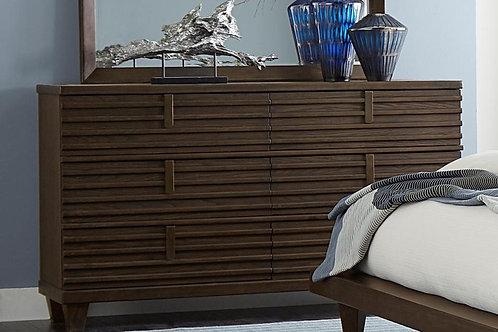 Ridgewood Henry Contemporary Oak Finish Dresser