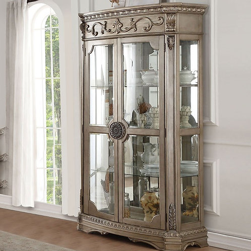 Northville All Antique Champagne Finish Curio