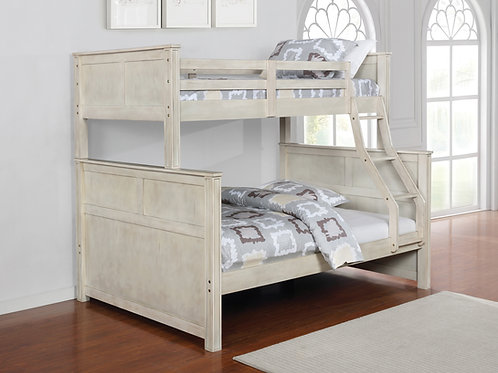 Montrose Cali Twin/Full Bunk Bed Antique White