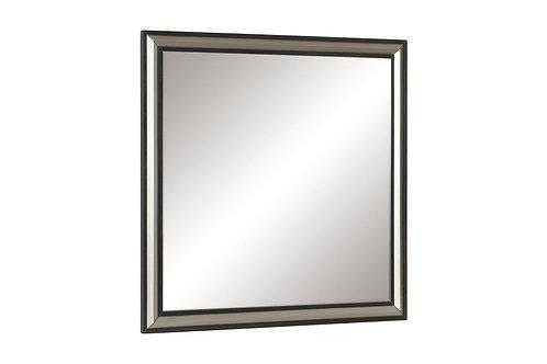 Henry Grant Oak Finish w/Silver Banding Mirror