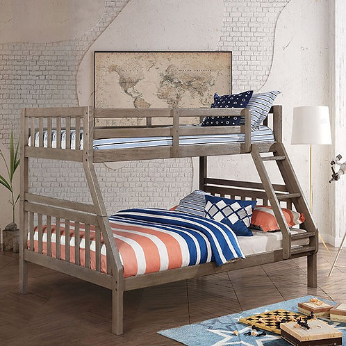 EMILIE Imprad Twin/Full Gray Bunk Bed