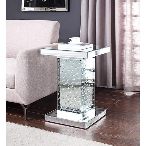 Glam All 81412 Mirrored End Table