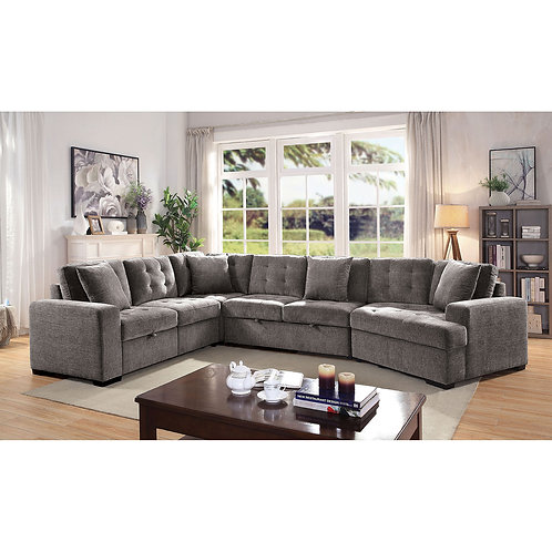 STEPH Imprad 2 Pull-out Sleeper Gray Sectional