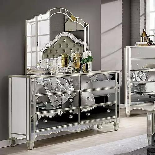Imprad Eliora Silver Glam Mirrored Dresser