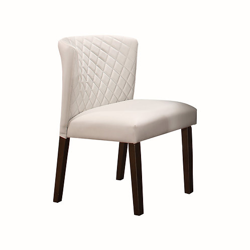 Nelina Henry Mid-Century Modern White Chair