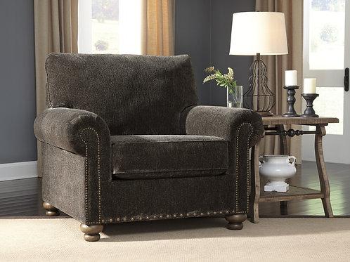 Stracelen Angel Dark Brown Chair w/Nailhead Trim