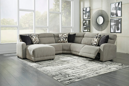Colleyville Angel Contemporary Smoke PWR Reclining Sectional (5PCS)