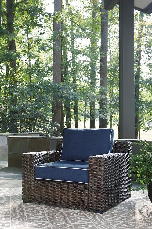 Grasson Lane Angel Blue/Brown Chair
