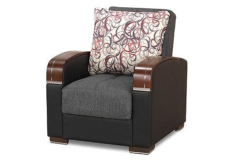 Diva Pegasus Click Clack Sleeper Chair – Gray Farbric