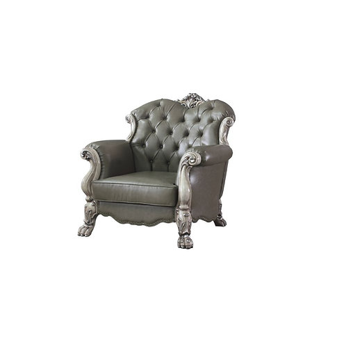 Dresden All Chair w/1 Pillow Vintage Bone White and PU