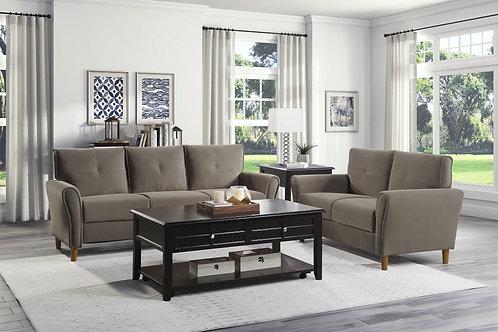 Henry Dunleith Brown Velvet Sofa