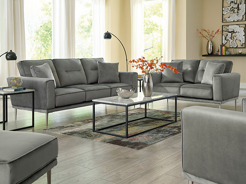 Macleary Angel Gray Velvet Sofa