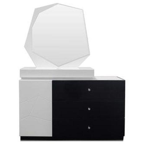 Berlin Best Modern Lacquer Black/White Dresser