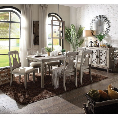 Colette All Gray Oak Finish Dining Table