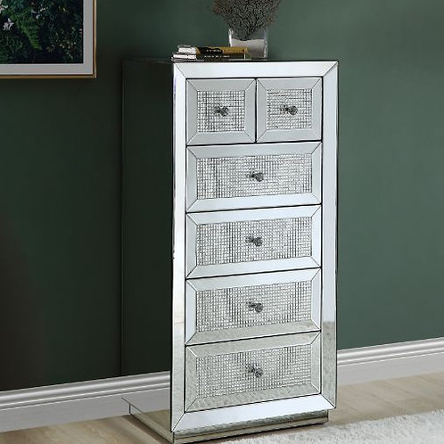 All 97949 Glam Mirrored Ornat Cabinet