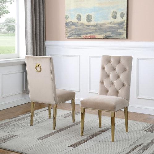 Best Q SC76 Velvet Beige/Gold Chair