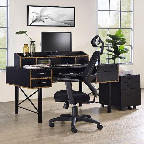Computer Desk - 92804 All Black Finish