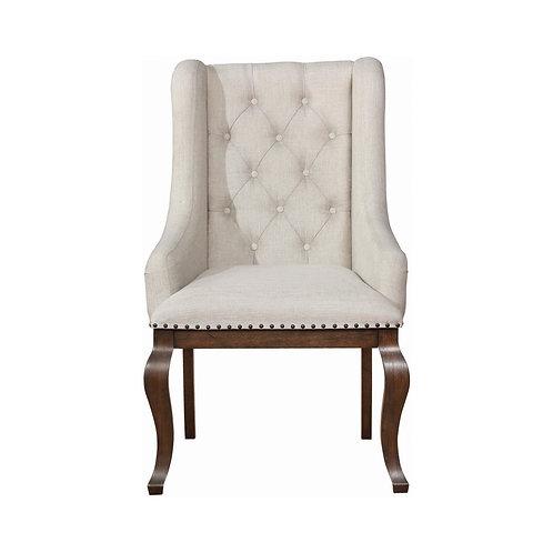 Brockway Cali Tufted Arm Chairs Cream