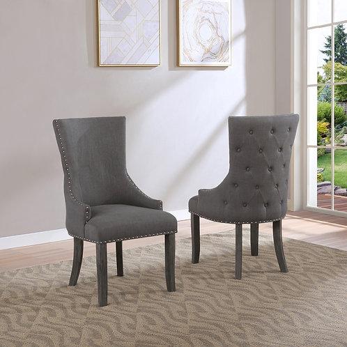 Best Q SC27 Light Gray Linen Fabric Chair