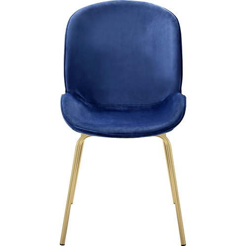 Pacheco All Blue Velvet Fabric Side Chair