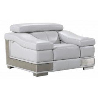 415 Grey GU Chair Italian Leather