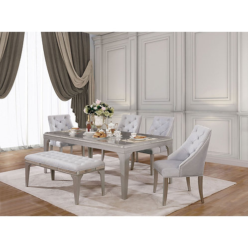 Diocles Imprad Contemporary Table w/ Mirror Inserts