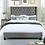 Thumbnail: Imprad RYLEIGH Transitional Gray Velvet-like Fabric Bed