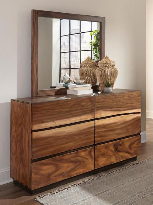 Cali Winslow Contemporary Dresser in Smokey Walnut and Coffee Bean