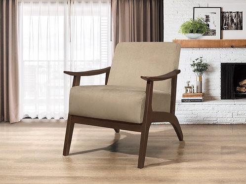 Carlson Henry Mid Century Light Brown Velvet Chair