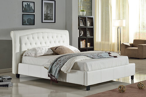 7519 Mg White Platform Bed PU