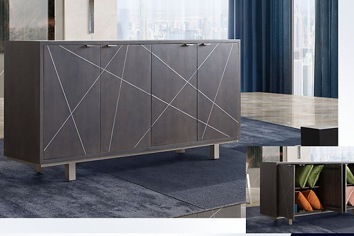 Dream Motion Gray Finish Sideboard