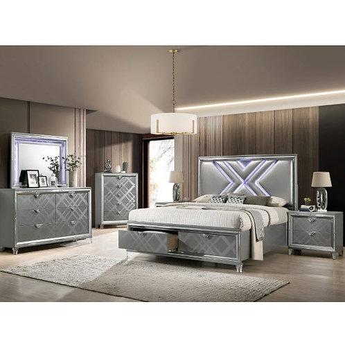 EMMELINE Imprad Silver Bed