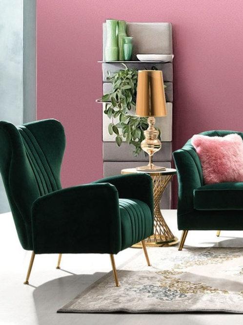 Ava Dream Emerald Velvet / Gold Base Chair